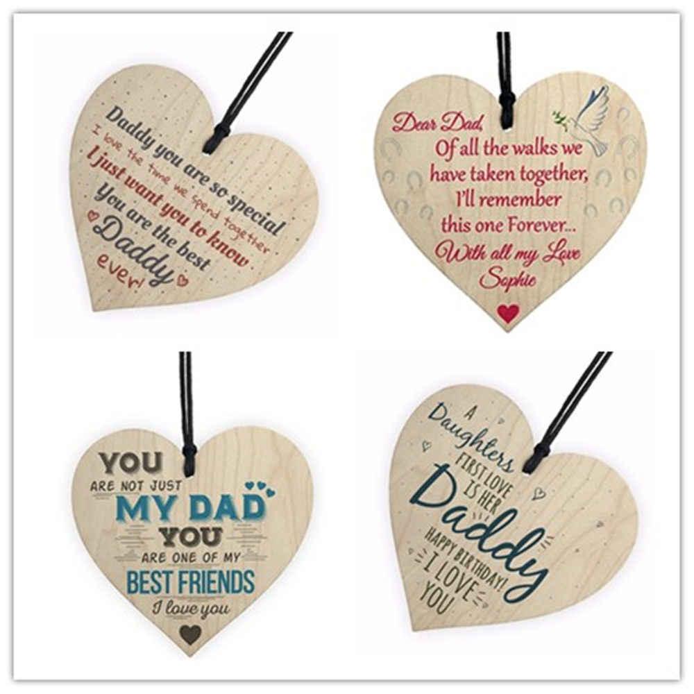 להנצחת אהבת אב אבא הטוב ביותר אבא עץ לב שמח יום הולדת כרטיס סימן בן בת תינוק תודה אתה קישוטי חג המולד
