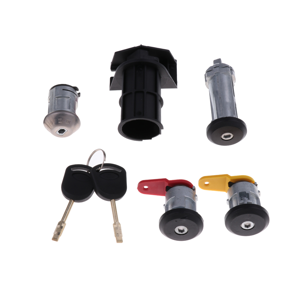 Set Of Replacement Ignition Switch Lock Cylinder With Key For Ford Carnival