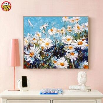 Pintura al óleo digital DIY Qian Jufei sala de estar dormitorio paisaje flor color pintura color de aceite pintura decorativa