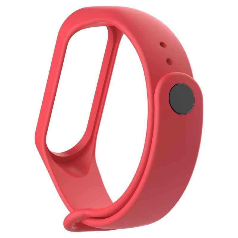 Pulseiras de silicone para xiaomi mi banda 3 4 esporte pulseira de relógio de silicone pulseira de pulso para xiaomi miband3 4 pulseira de pulso