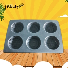 FILBAKE 6 Cavity Silicone Burger Bread Baking Molds Cake Decoration Jelly Mould Biscuit Mat Pan Bakeware Tray