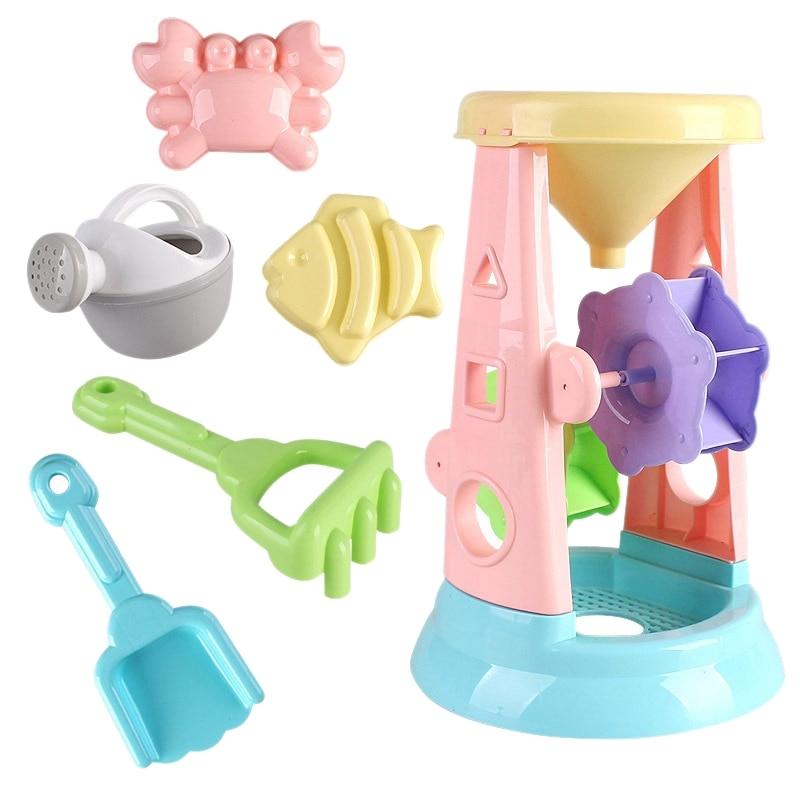 Children'S Beach Toy Set, Hourglass Toy, Beach Mold, Beach Shovel Tool Set, Sandbox Toy, Children'S Outdoor Toys