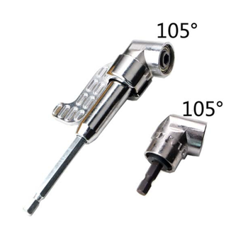 105 Degree Right Angle Drill Short Angle Extension Power Screwdriver Drill Bit 1/4inch Hex Bit Joint Connector Adapter 8mm hex shank screwdriver drill bit angle driver 90 degree right angle 3 8in keyless chuck drill adapter steel body design