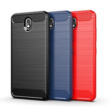 Carbon fiber Brushed soft mobile phone case for LG Q7 plus A