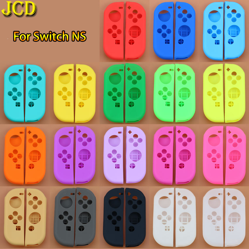 JCD 1Set Anti-Slip Silicone Soft Case For Switch NS Protective Cover Skin For Nintend Switch Joy-Con Controller Accessory(China)