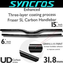 SYNC Fraser SL Carbon Bicycle handlebar mtb/mountain handlebar/Flat/Rise Clamp 31.8mm660-740mm back sweep 6/15 bike accessories