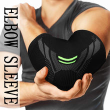 Poliéster cotovelo cinta compressão suporte manga tricô elástico cotovelo movimento proteção S--XL exercício esportes segurança # yl5