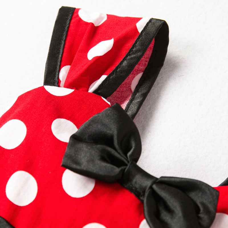 Girls Mouse Dress Gift Polka Dots Party Costume Baby Girl Winter Snowman Red New Year Girl Christmas Dress Girl 5Y 3