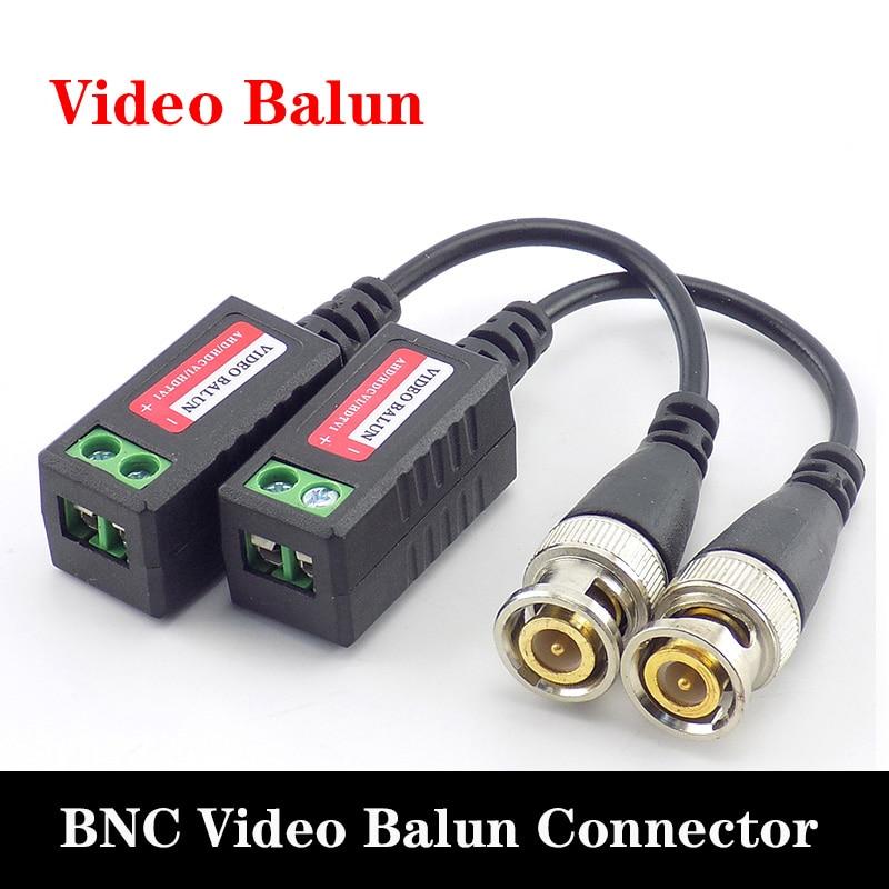 5 par 10 par de câmera cctv vídeo balun conector bnc vídeo balun para utp transceptor 3000ft distância utp bnc adaptador de cabo macho