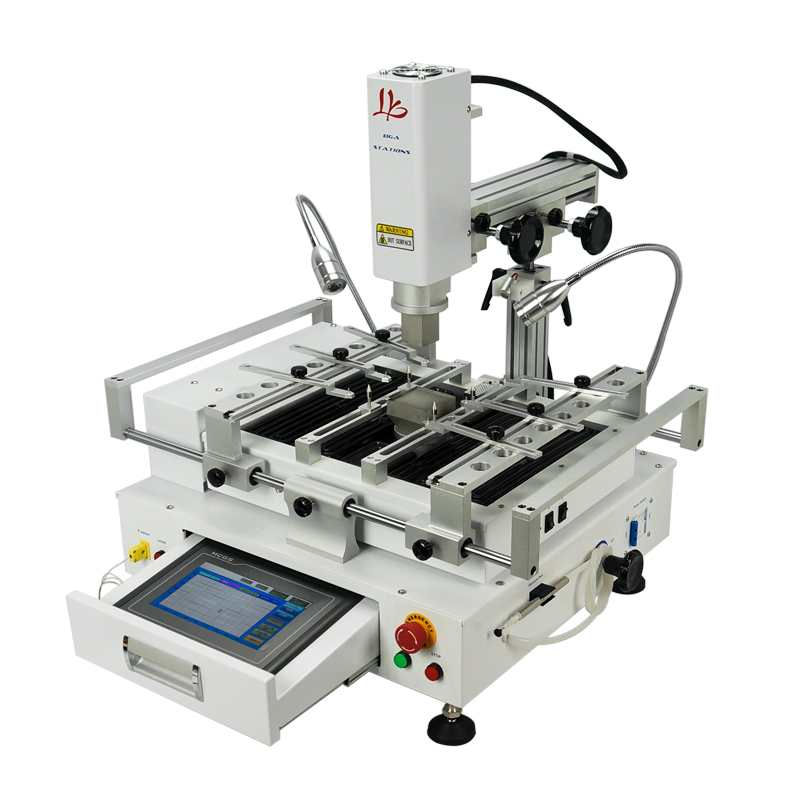 BGA Rework Station LY R690 V.3 Hot Air Touch Screen Solder Stations 3 Zones With Laser Point 4300W