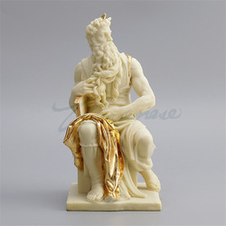 Creative Hebrew Judaism Art Sculpture Prophet Mose Figure Statue Resin Craft Home Decoration Accessories Birthday Gift R3341