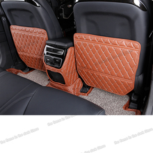 Lsrtw2017 Fiber Leather Car Seat Anti-kick Mat for Geely Borui Emgrand Gt Ge PHEV MHEV 2014 2015 2016 2017 2018 lsrtw2017 carbon fiber leather car co pilot storage box anti kick mat for chery tiggo 8 2018 2019 2020