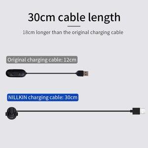 Image 2 - NILLKIN xiaomi mi bant 4 şarj aleti kablosu mi bant 4 sökme ücretsiz şarj USB kablosu için xiaomi mi bant 4 küresel hızlı şarj