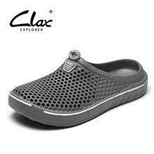 Clax Garten Clog Schuhe Für Männer Schnell Trocknend Sommer Strand Pantoffel Flache Atmungsaktive Outdoor Sandalen Männlichen Gartenarbeit schuh