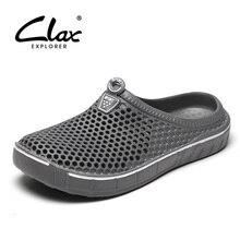 Clax גן לסתום נעלי גברים מהיר ייבוש קיץ חוף נעל שטוח לנשימה חיצוני סנדלי זכר גינון נעל