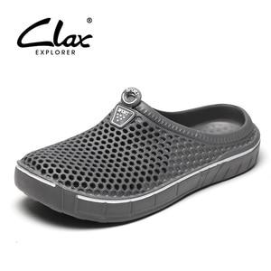 Image 1 - Scarpe da zoccolo da giardino Clax per uomo pantofole da spiaggia estive ad asciugatura rapida sandali da esterno traspiranti piatti scarpa da giardinaggio maschile