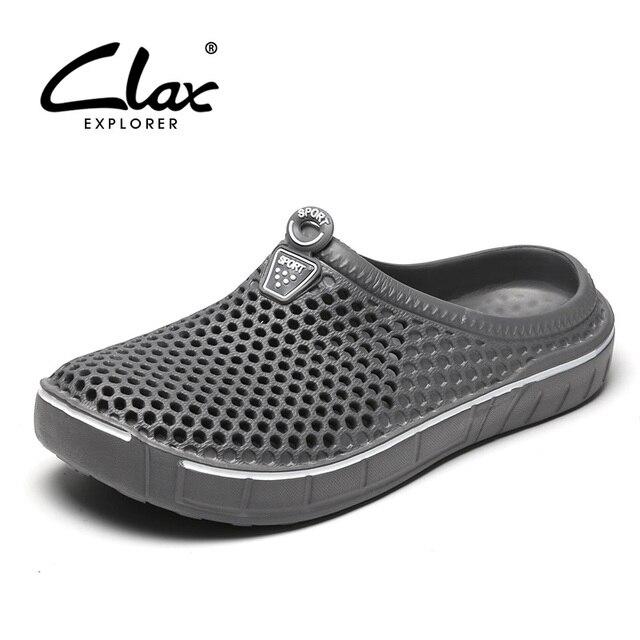 Scarpe da zoccolo da giardino Clax per uomo pantofole da spiaggia estive ad asciugatura rapida sandali da esterno traspiranti piatti scarpa da giardinaggio maschile