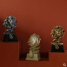 Креативная Европейская Статуя Льва скульптура с головой животного