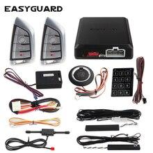 Easyguard Smart key keyless go car alarm system remote engine start push button start touch password entry DC12V vibration alram