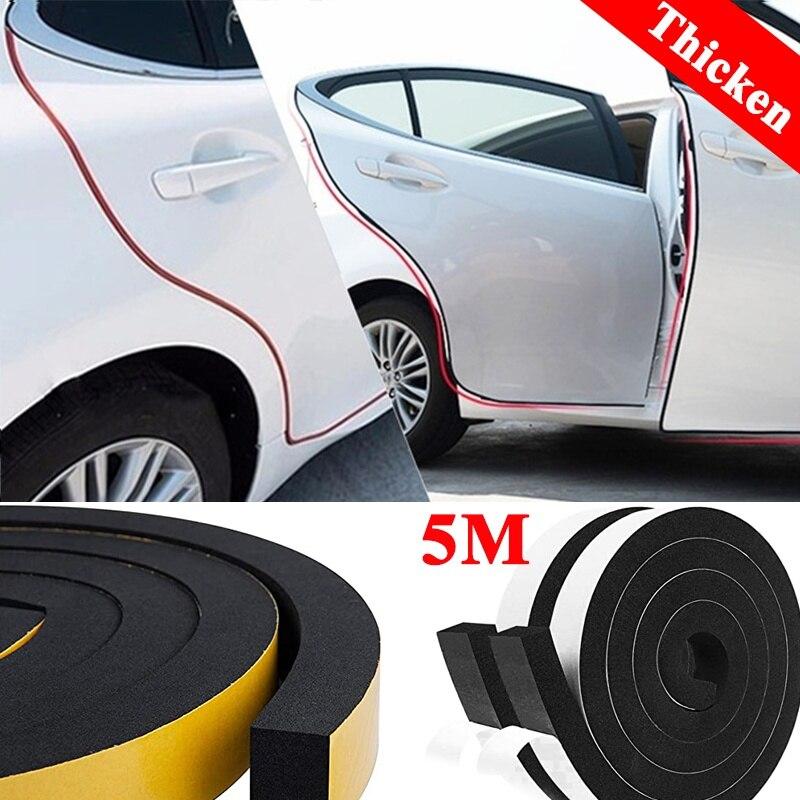 Самоклеящаяся лента для автомобильных дверей, уплотнительная лента для дверей, 5 метров, шумоизоляция, защита от столкновений, оконных зазо...