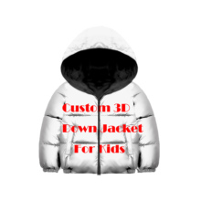 Personalized Custom DIY Own Picture Photo 3D Print Kids Winter Down Jacket For Girls Boys Winter Children's Jacket Winter Coat