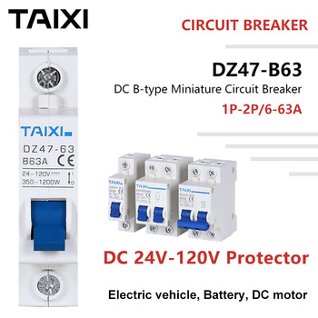 Electric vehicle breaker battery protector DC motor Circuit 24V 36V 48V 72V 110V Voltage 10A 20A 40A 63A 80A 100A 125A 2P mcb 1 modular 18mm width new design 80a 100a 125a 10ka breaking capacity mcb miniature circuit breaker 10ka breaker automatic