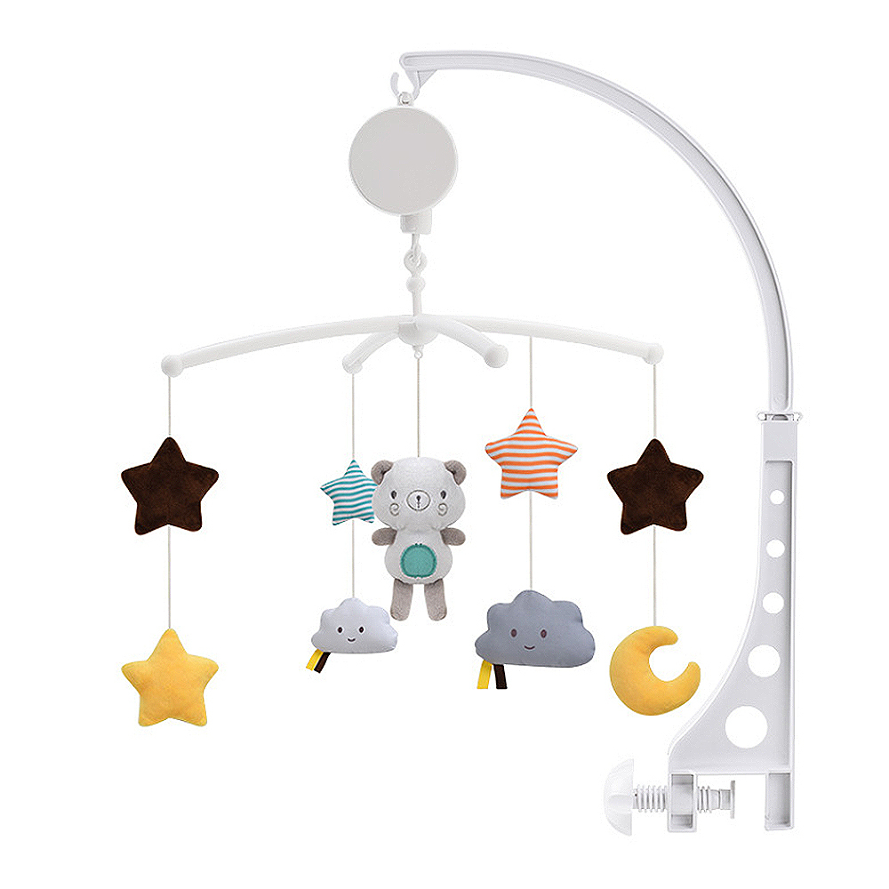 Baby Crib Holder Rattles Baby Toys Clockwork Music Box Bed Bell Toy Bear Handmade Mobile Toys For Children