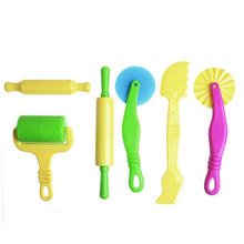 Детские цветные пластиковые инструменты аксессуары для пластилина
