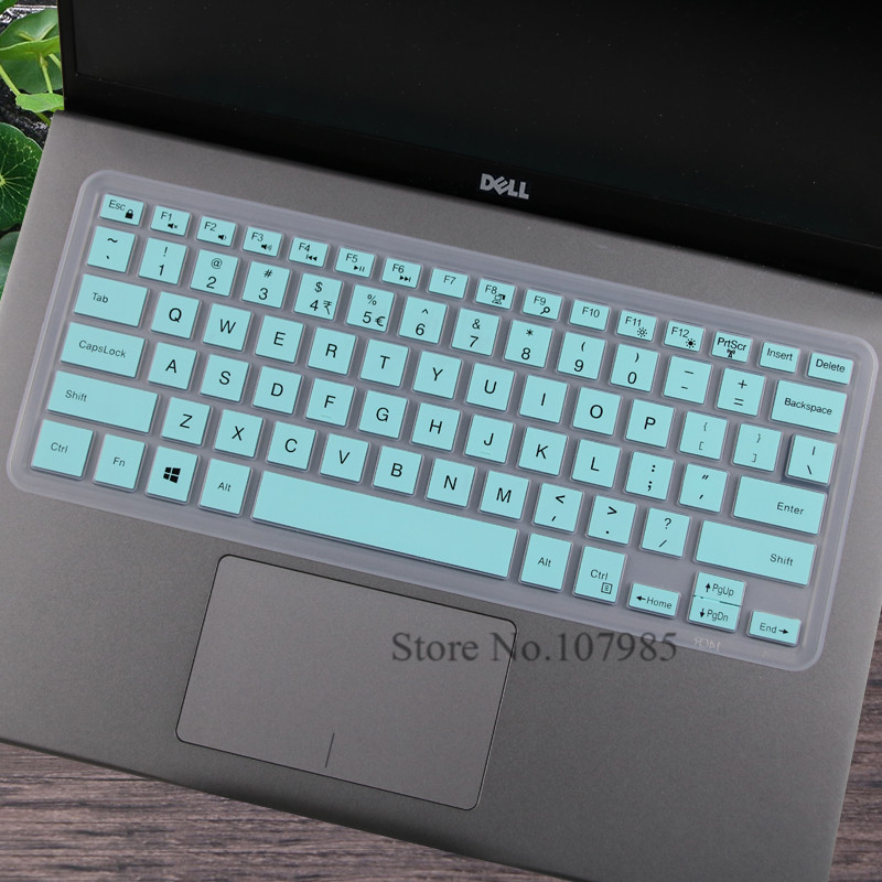Silicone Keyboard Skin Cover Protector for Dell Vostro V3350 V3450 V3550 V1450 V1440 V131 V3460 V2421 V2420 V3560 14Vr 15R 5520-Purple