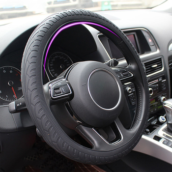 Car Silicone Steering Wheel Case Cover Shell Skidproof Car Accessories For Audi Nissan Peugeot Honda KIA Hyundai LADA BMW image