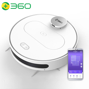 360 S6 Robot Vacuum Cleaner APP Automatic Remote Control LDS Lidar Navigation Planned Sweeping Mopping Smart Cleaning Robot 2018 new roborock xiaowa robot vacuum cleaner for home automatic sweeping dust sterilize smart planned mobile app remote youth