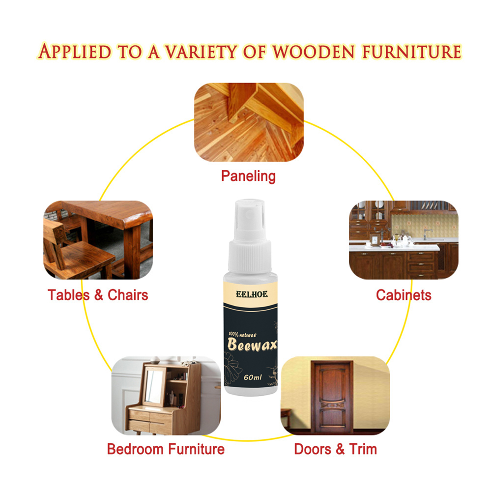 Cabinets Furniture Care Home Crack Proof Maintenance Wear Resistant Floor Crafts Practical Wood Beewax Non-toxic Waterproof