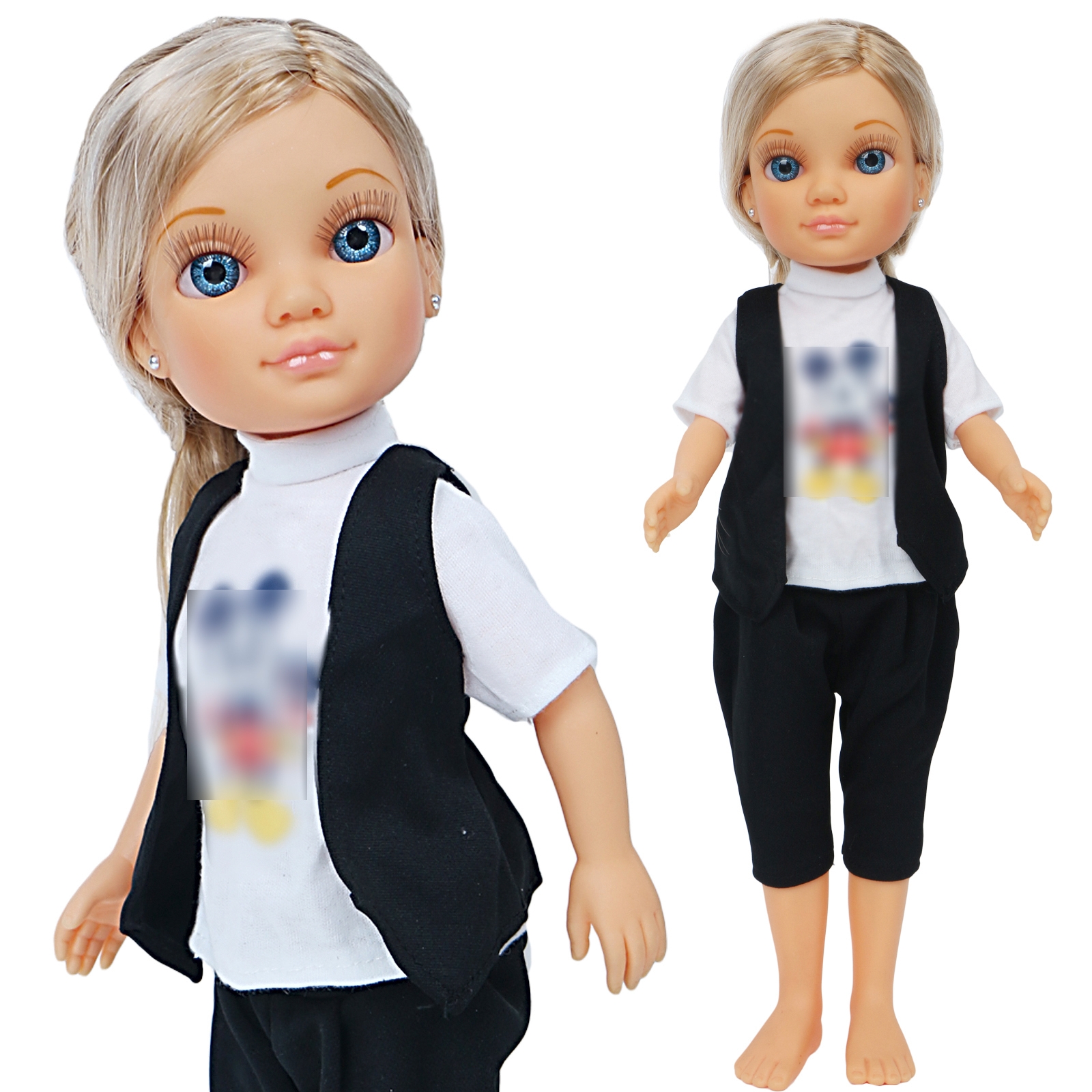 Limited Collection Doll Outfit For Nancy Doll Daily Wear Cartoon Black Jack T-shirt Blouses Doll Clothes Accessories Toy