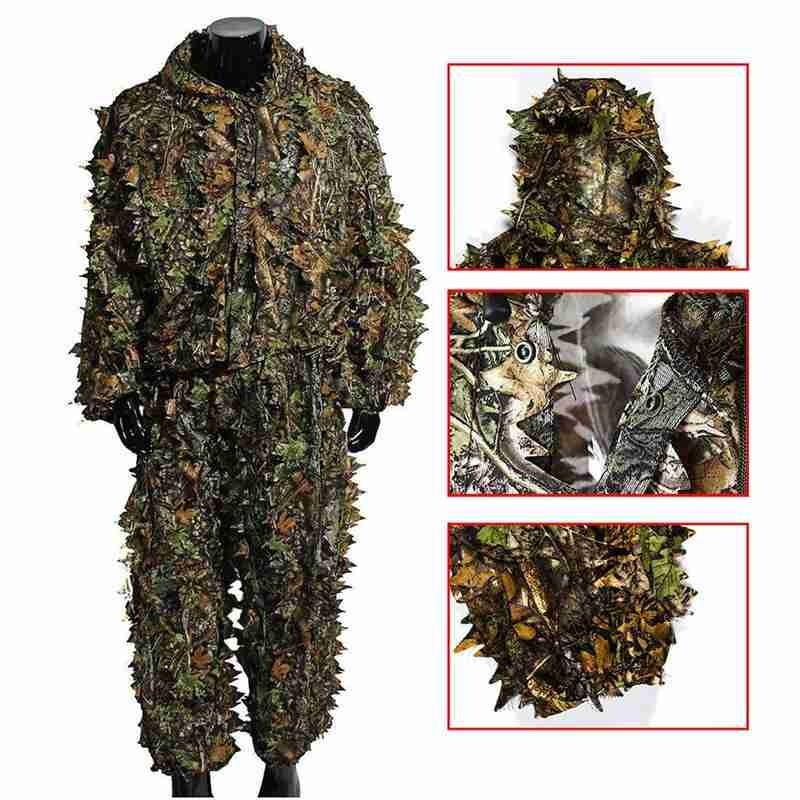 Hunting Secretive Woodland Ghillie Suit Aerial Shooting Sniper Green Clothes Adults Camouflage Military Jungle Multicam Clothing