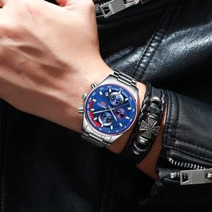 Image 5 - NIBOSI メンズウォッチトップブランドの高級スポーツクォーツクロノグラフ鋼男性時計ミリタリー防水クロノグラフレロジオ Masculino