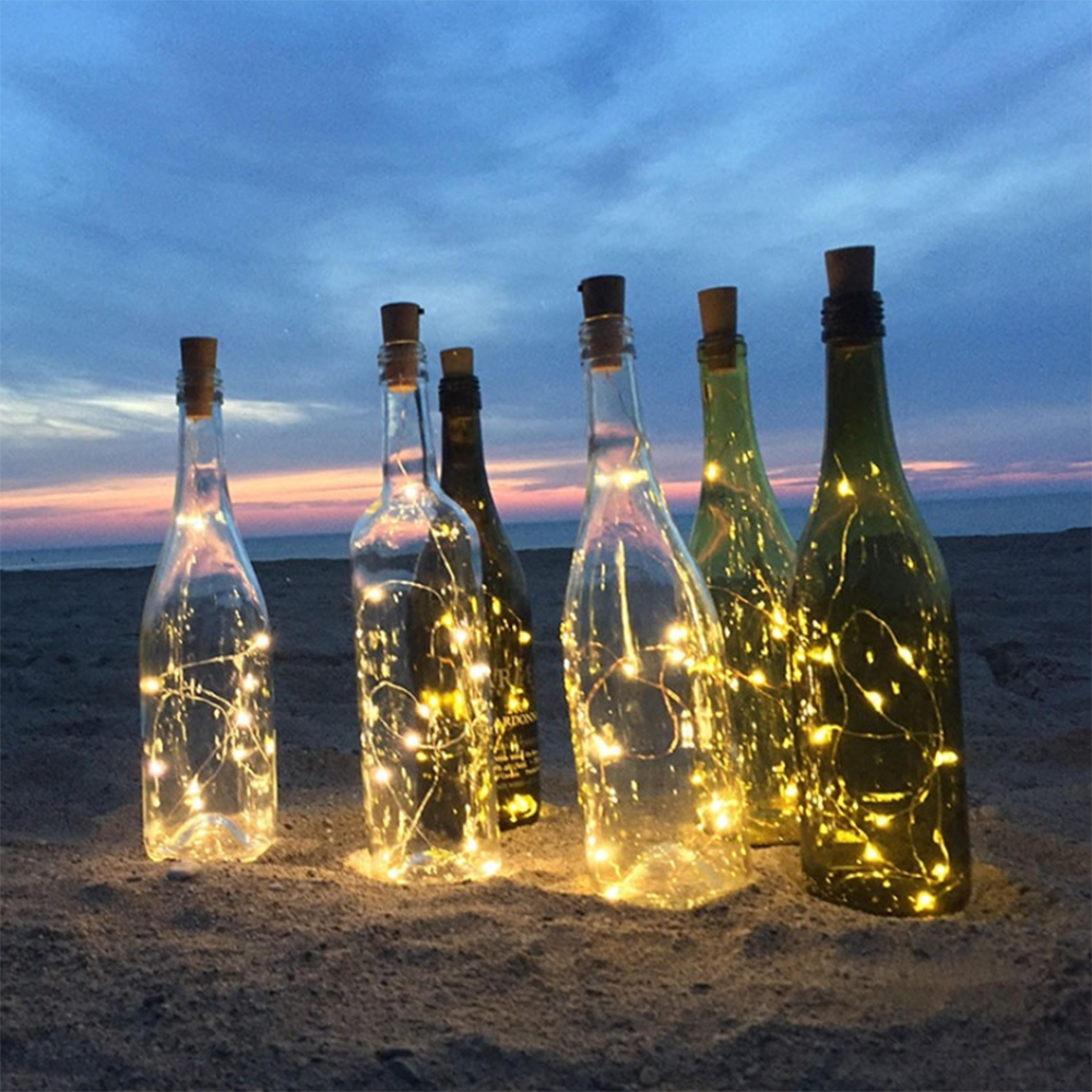 Wine Cork 20LEDS Bar Birthday Party Wedding Celebration Holiday Christmas Party New Year\'s Day Halloween Battery Creative Lights