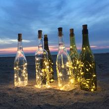 Винная пробка, 20 светодиодов, бар, День Рождения вечерние свадьба, праздник, Рождество, вечерние НКА, новый год, Хэллоуин, батарея, креативные...