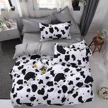 Juego de funda de cama de vaca para niño y niña, 4 Uds., edredón de dibujos animados, sábanas y fundas de almohada, edredón, ropa de cama 2TJ 61005