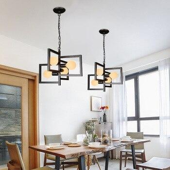 4 Heads Led Iron Pendant Light Decor for Bedroom Dining Room Modern Light Fixtures Suspension Luminaire Loft Industrial Hanglamp
