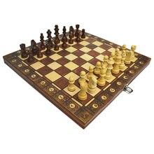 Xadrez de madeira super magnético xadrez backgammon damas 3 em 1 jogo de xadrez antigo jogo de xadrez de viagem conjunto de xadrez peça de xadrez de madeira