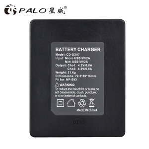 Image 5 - PALO  NP BX1 NP BX1 NPBX1 LED dual charger for Sony cyber shot DSC HX50V HX300 RX1 RX100 II WX300 HDR AS10 AS15 AS30V AS100V