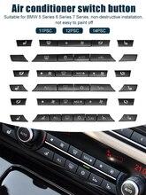 11/12/14 sztuk A/C grzejnik przycisk czapki zestaw naprawczy pokrywa przycisku przełącznika dla BMW 5/6/7 serii F01 F02 F06 F07 F10 F11 F12 F13 GT