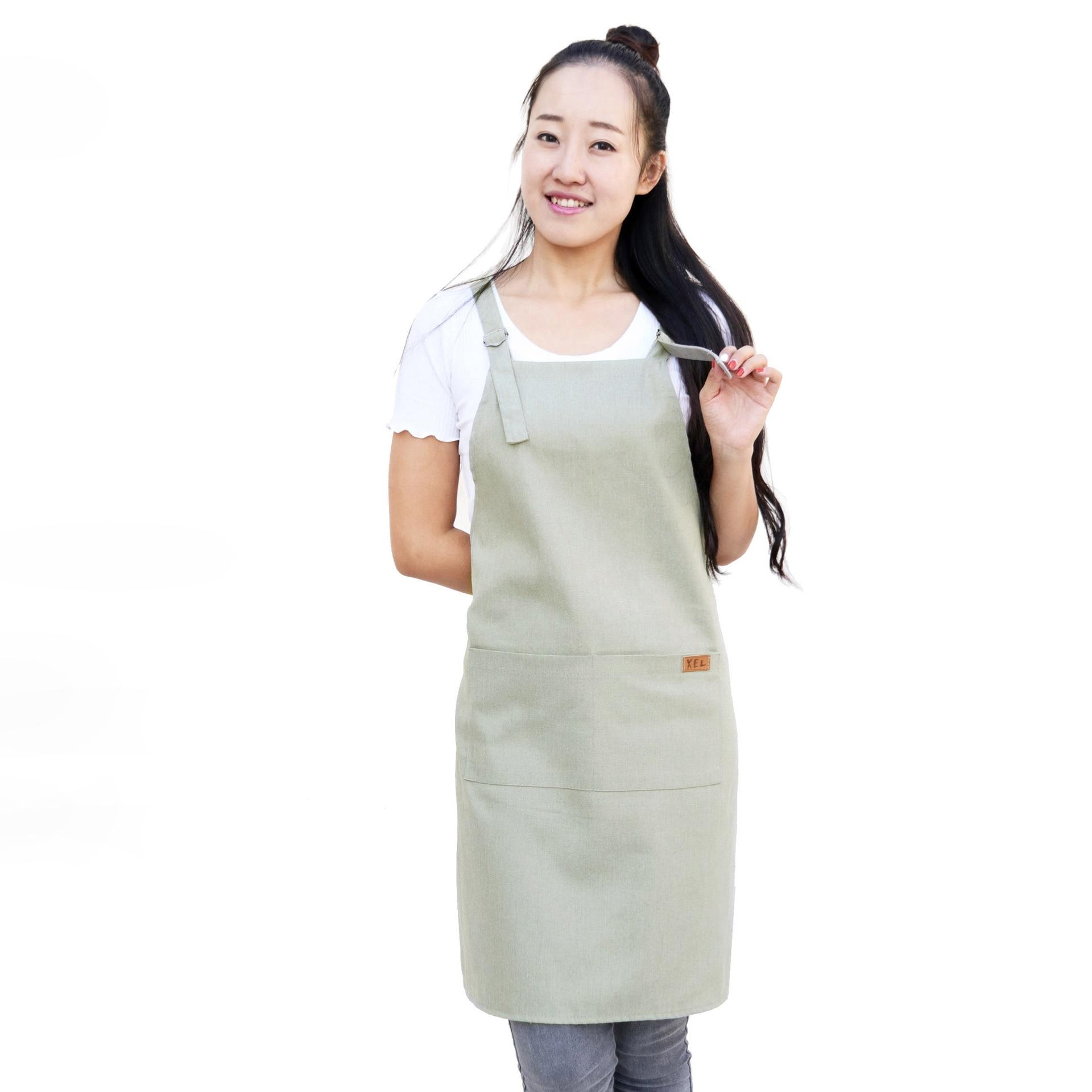 韓国スタイルのスタイルのキッチン調理エプロンカフェレストランマニキュア塗装男性と女性作業服子供