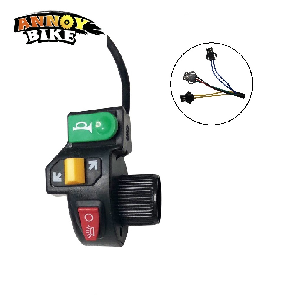 Ebike Handlebar With Switch For Horn Turn Signal Motorcycle 7/8 Head Light Hi/Lo Beam Kill Switch ATV
