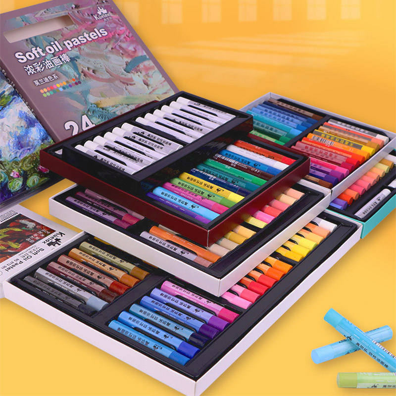 Kuelox Art Soft Oil Pastel/Crayon Macaron/Morandi/Artist Grade 12/24/36 Colors For Artist/Student Graffiti Oil Pastel Painting