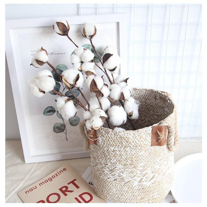 Дешевые естественно сушеные хлопок дешевые искусственные растения Цветочная ваза s для Свадебная вечеринка Декоративные искусственные цв...