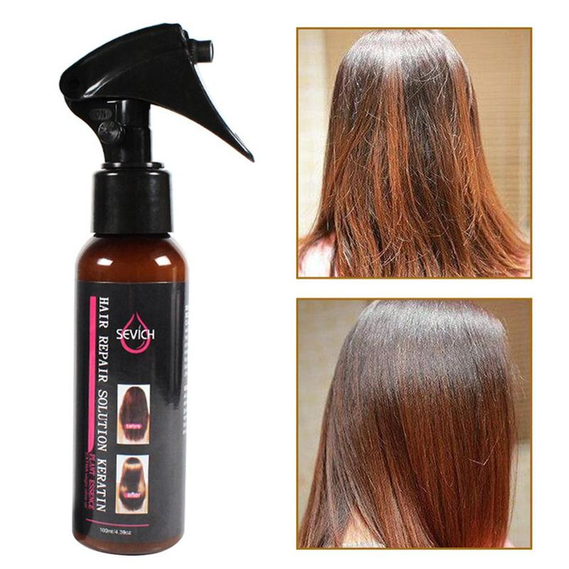 100ml Smoothing Spray To Repair Dyeing Ironing Damaged Hair Care Essential Oil Prevents Frizz And Makes Hair Silk Shine 5