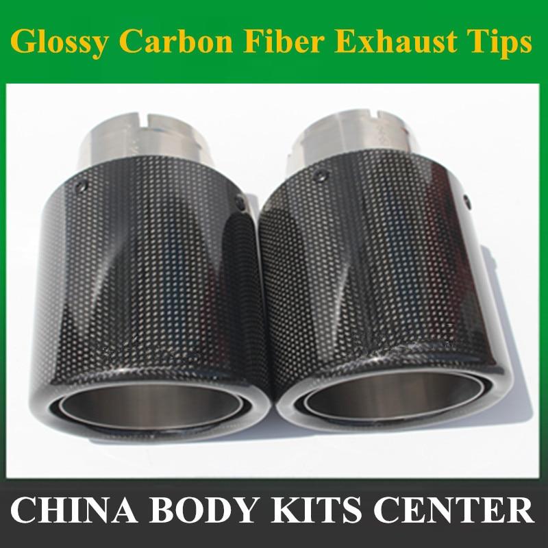 1 կտոր 89MM ելք Փայլ փայլով ածխածնային մանրաթելից արտանետվող հուշում Չժանգոտվող պողպատից Ունիվերսալ խոզանակ խորհուրդներ է տալիս արտանետման խողովակը