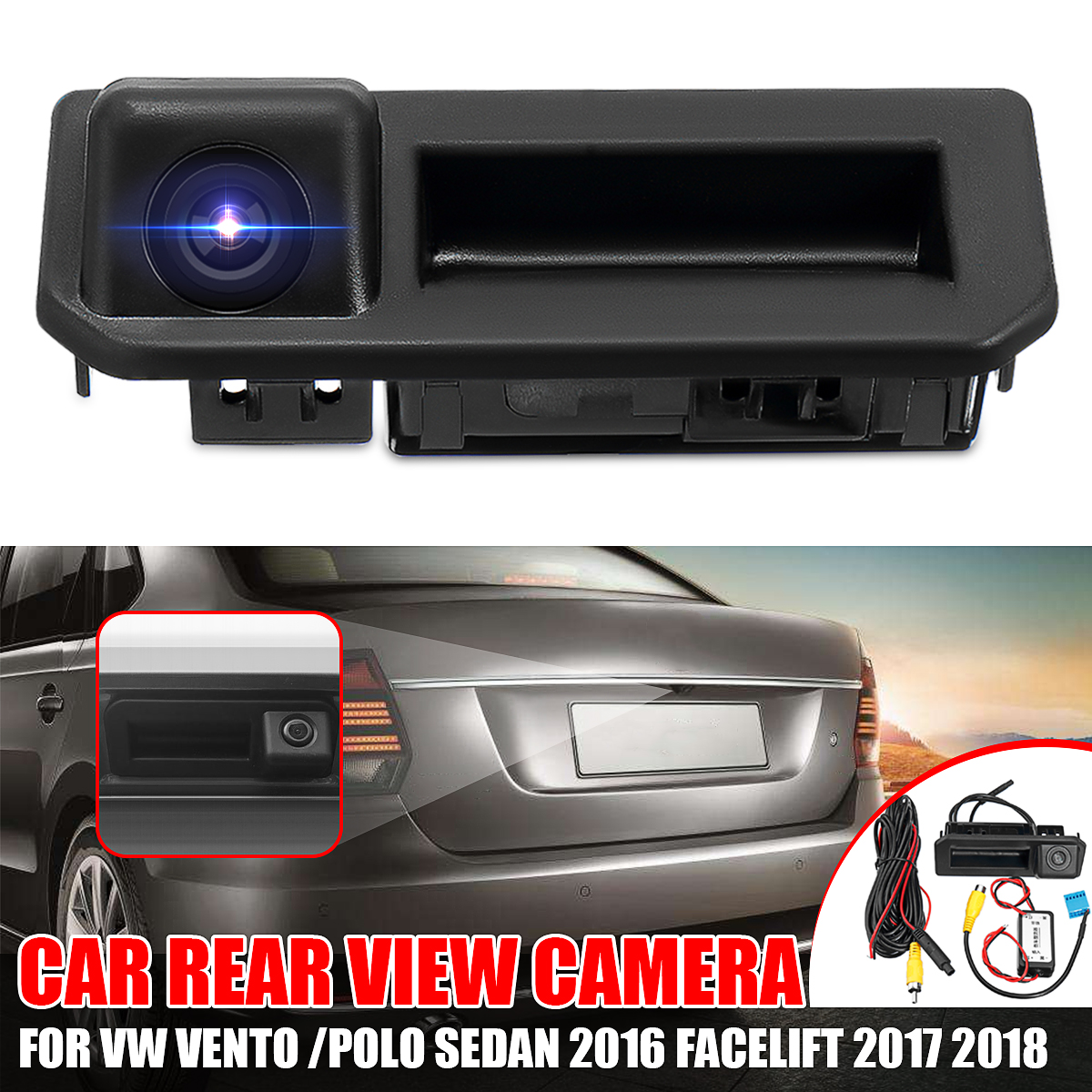 Rear View Camera Backup Parking for 2012-2016 VW Tiguan SUV Car Trunk Handle