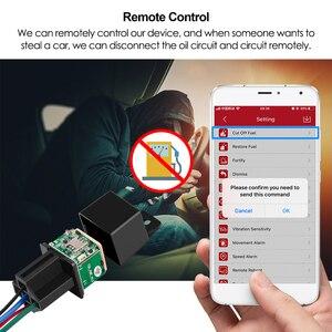 Image 2 - Mini relé GPS para coche, rastreador GPS MV720, 9 90V, control de combustible, vibración, alerta de exceso de velocidad, Geofence, APP gratuita PK CJ720 LK720